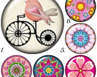 Mini snap charms for petite snap jewelry. Fits all grands of 12mm snap jewelry including Petite Ginger Snaps jewelry. Mandala snap charm.