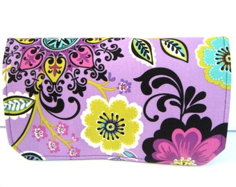 20% Off  Coupon Organizer /Budget Organizer Holder Cash Budget  Attaches To Your Shopping Cart  - Purple Floral Medallion