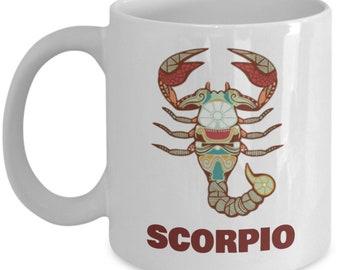 Zodiac Sign Scorpio Ceramic Coffee Mug