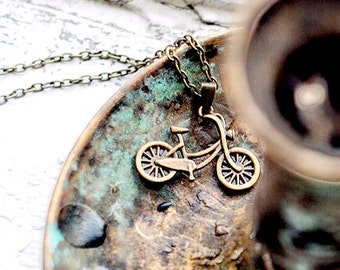Bicycle necklace - Hipster jewelry - Free Worldwide Shipping - Gift for her under 15 USD