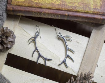 """cute pair of earrings """"horn"""" deer - witch - magic - witchcraft - shaman - Gothic - Horn - nature - wicca"""