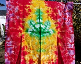 Sweet Leaf Handkerchief/ Mini Tapestry
