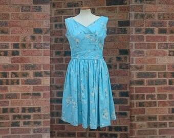 Vintage 50s Floral Sun Dress