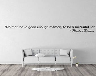 Wall Sticker Motivation quote Abraham Lincoln Quotes