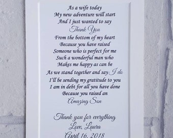 Father of Groom gift from bride, unframed wedding gift from Bride to Father in law, gift for Father in law, Father of the Groom gift