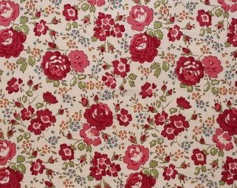 Liberty tana lawn printed in Japan - Felicite - Autumn red  mix