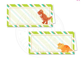 Dinosaur Rawr Printable Tent Cards, Printable Buffet Cards, Dinosaur Party Printables, Dinosaur Food Labels, Dinosaur Party, Cards are Blank