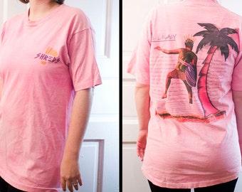 80s Shreds surf skate shirt - Vintage Legacy palm tree skateboard tshirt - Terrific Pacific
