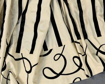 Pair French Black and White Striped Curtain Panels  Paris Apartment Designer Drapery Panels Carlo Rampazzi  Contemporary Striped Draperies