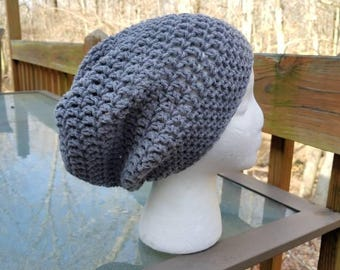 The Sparrow Slouchy Beanie in Grey - Ready to Ship