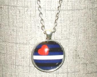 Leather Pride Round Pendant Necklace