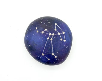Painted Stones, Sagittarius Constellation Stone, Zodiac Rock, Hand Painted Art, Astrology Stone, Astronomy Gift, Arttohaveandtohold