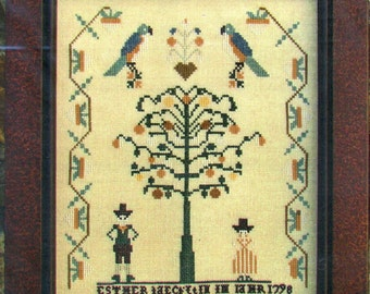 1/2 Price Ester Yeakel's 1798 Sampler by Carriage House Samplings Counted Cross Stitch Pattern/Chart
