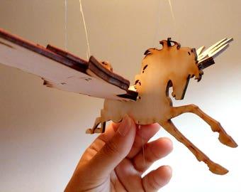 Miniature Winged Unicorn / Pegasus Flying Mobile