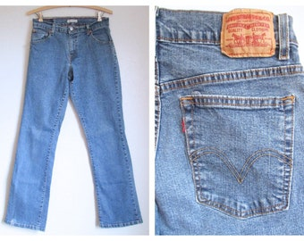 Levi's 550 Red Tab Jeans Relaxed Boot Cut Levi Strauss Cotton Blend- 8M