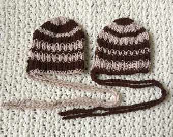 Knitted Baby Newborn Hats Bonnets Boys Girls Gifts Photo Props