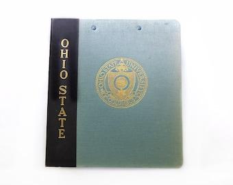 Ohio State University Notebook, Three Ring Binder, Canvas Linen