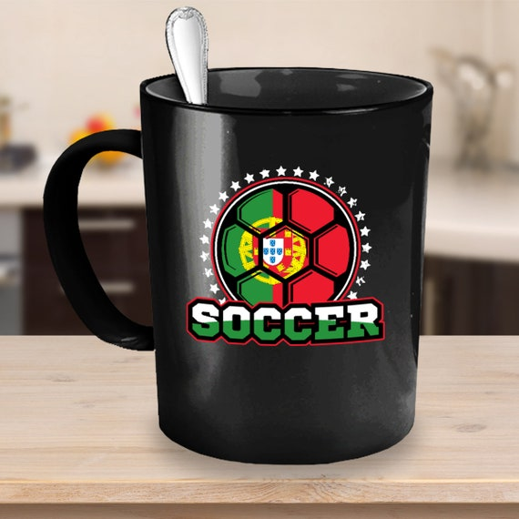 Portugal Soccer Ball Coffee Mug 11 or 15oz