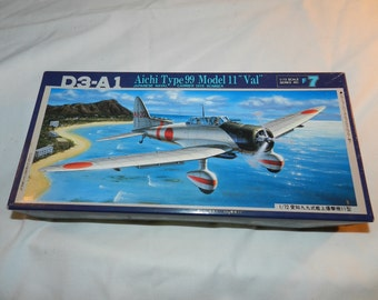 Fujimi Model kit of DC-A1 Aichi Type 99 Model 11 Val Japanese Naval Carrier Dive Bomber aircraft - 1/72 Scale Model in box + Complete  38-26
