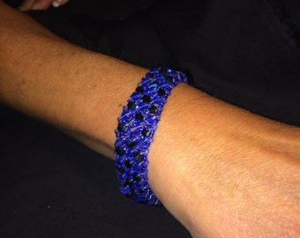 Number 18 Right angle hand woven bracelet by Maine Artist Amber Martin