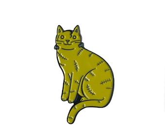 Frankenstein Cat Enamel Pin -  cat  enamel pin - Halloween enamel Pin - halloween brooch