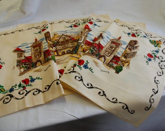 4 napkins Alsace