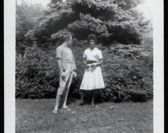 Vintage Snapshot Photo Young Guy Model Pose Wearing Pedal Pushers 1960's, Original Found Photo, Vernacular Photograhy