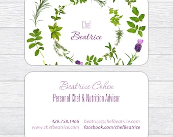 Personal Chef Business Card, Nutritionist Business Card, Nutrition Advisor Business Card, Catering Business Card Farmer Market Business Card