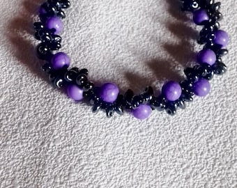 """Waves"" bracelet duo beads"