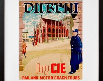 Dublin Ireland Art Print Irish Travel Poster Home Decor (ZT308)