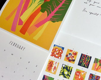 "2018 Wall Calendar 8.2""x 9.4""/ 21x24 cm - Illustrated calendar by Ana Zaja Petrak - Limited edition"