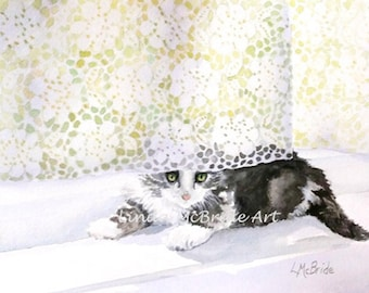 Kitten'n'Lace 3.5x5 Blank Notecard with Envelope