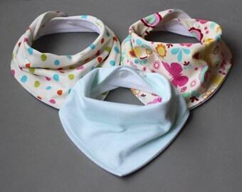 Baby bib handmade set, Girl bib set, Bandana bib set, Baby bandana bib, Handmade bandana bib girl, Butterfly bib, Baby bib for girl, Bib set