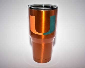 Miami Hurricanes Yeti Canes Ozark Miami Ozark Canes Yeti Canes gifts for him hurricanes gifts miami gifts for him hurricanes cup tumbler