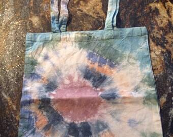 Tie dye cotton shopping bag