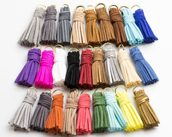 Cute Short Suede TASSEL Tassles High Quality 1.8 inches 3 pieces