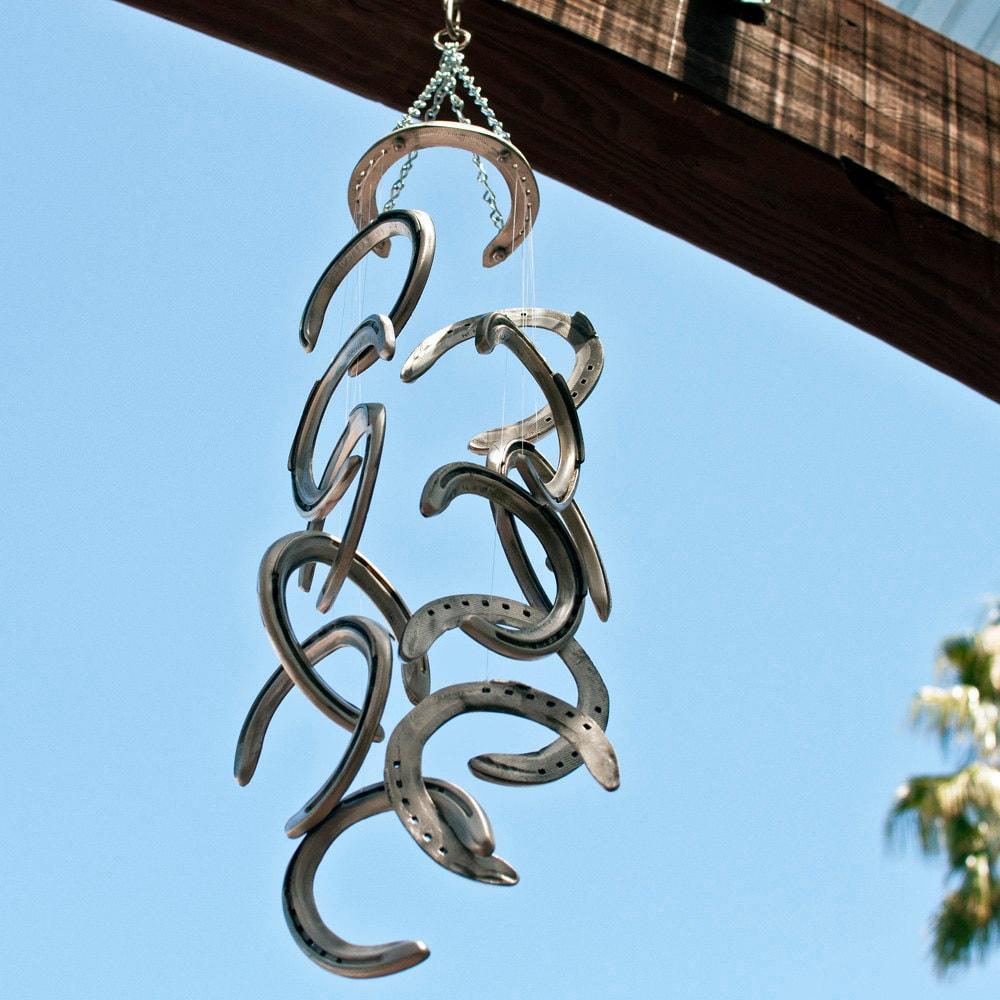 Racehorse Aluminum Horseshoe Wind Chime