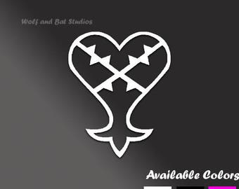 Vinyl Decal - Kingdom Hearts Decal - Heartless Sora Decal
