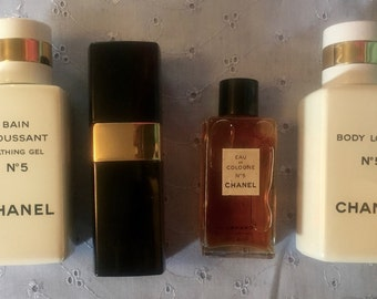 Vintage 1960's Chanel Perfume Set / 1960's Bath and Beauty / Vintage Chanel / Chanel