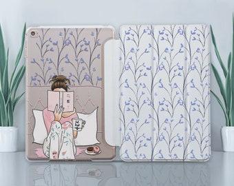 Flower iPad 5 Case Clear iPad 10.5 Case iPad Mini 4 Case iPad 2 Case Ornament iPad Air Case iPad Pro 9.7 Case iPad 12.9 Case iPad 3 CZ4011