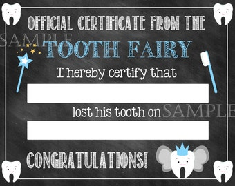Tooth Fairy // Tooth Fairy Prop // Loose Tooth // First Tooth // Chalkboard // Fairy // Tooth // Toothfairy // Tooth Fairy Certificate