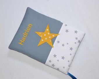 """Personalized name and embroidery cotton health booklet """"Hadrian"""""""