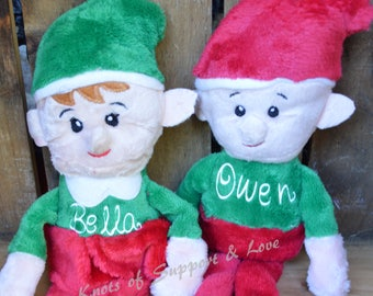 Elf, Personalized Elf, Personalized Christmas Elf, Plush Christmas Elves, Plush Christmas Elf, Christmas Elf, Elf, Shelf, Elf