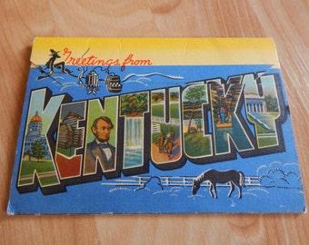 1939 Kentucky Fold-Out Postcard Packet