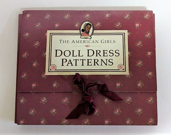 American Girls Dolls Dress Patterns-Vintage Clothes Pattern from the Addy Doll-The Fifth American Girls Doll Created