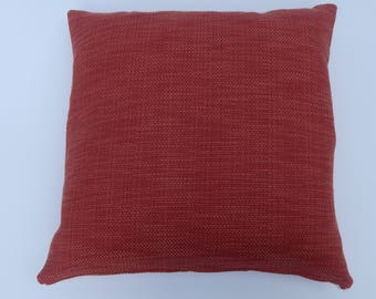 Rusty Red cotton pillow cover