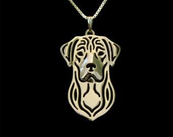 Labrador Retriever - gold pendant and necklace