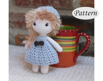 Little Cutie AMY - Amigurumi Pattern Crochet Doll Pattern - Tutorial - PDF - Plush Doll Girl