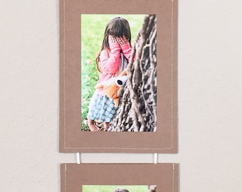 Brown Stitched Photo Frame