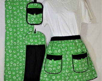 Stylin' In Shamrocks - St. Patrick's Day Kitchen set and Table Runner